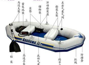 free shipping DHL  Inflatable boat +3.5 P motor + bracket +4 pcs life jacket + electric pump