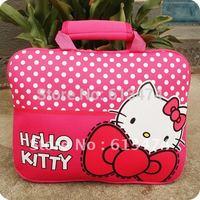 Fashional Hello Kitty Handbag Computer bag 14 inch Notebook keeper bag Laptop holder 3Colors