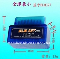 super mini ELM327 bluetooth obd2 support smartphone iphone and PC/blue elm327 bt