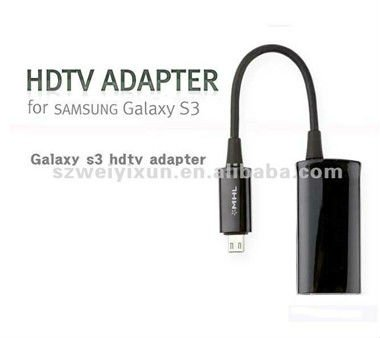Micro USB MHL to HDMI Adapter Cable for Samsung Galaxy S3 i9300(China (Mainland))