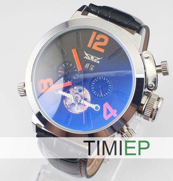 Luxury!!!New Men's Skeleton Automatic Mechanical Classic Sports Wrist TIMI Watch(China (Mainland))