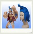 One Piece  Franky Cosplay wig Blue Straight Halloween
