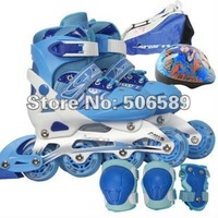 flashing roller skates for kids free shipping 3 colors good quality free shipping 133D Jinfeng size adjustable