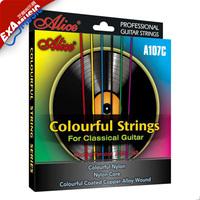 Alice alice a107c multicolour classical guitar strings nylon material for classical guitar strings