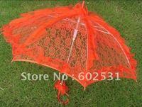 RED Large size Flowers and birds wedding bride umbrella dance umbrella