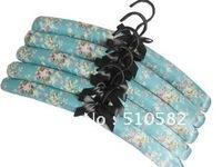 """Saigeya""Court Flowers  high-grade Satin hanger with Chrome  hook-5pcs/pack,5pack/lot, total:25PCS/LOT FREESHIPMENT38.5CM"