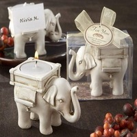 "NEW ARRIVAL+Wedding Favors ""Lucky Elephant"" Tea Light  Candle Holder+100pcs/lot+FREE SHIPPING"