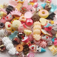 Wholesale - - 200pcs Resin Mixed Cake Dessert Ice Cream Lolly Candy Flatback Scrapbooking Craft