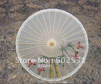 Hand-painted flowers and birds porcelain umbrella  blue flower cloth umbrella ancient costume umbrella