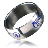 Bahamut World of Warcraft Alliance Ring Free With Chain - Titanium Steel