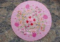 PINK Hand-paintedpicture porcelain umbrella  blue flower cloth umbrella ancient costume umbrella