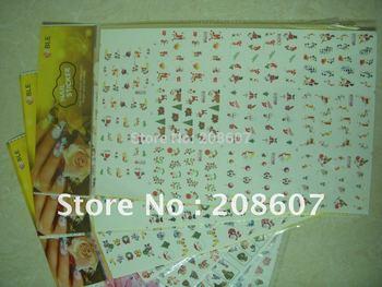 Christmas / Halloween Cartoon Sticker  Freeshipping Nail Art Sticker 2D Water Decal 10pcs/lot  Multicolor Manicure Sticker