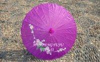 Purple red Technology umbrella, silk umbrella, umbrella props