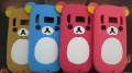 Cute Bear Silicon Case for Nokia C7 ,free shipping *1 pc