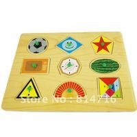 Wood geometric puzzle baby toys