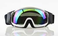 Wholesale Ski Snowboard Goggles Adult Motocross Dirt Bike ATV Off-Road Colored Lens White free shipping