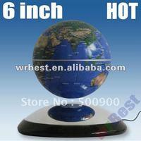 Magnetic floating rotating globe