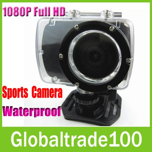 1080P Full HD Sport Video DVR Waterproof Extreme Sports Action Camera Bike Head GoPro Style Mini Camcorder Recorder Free DHL(China (Mainland))