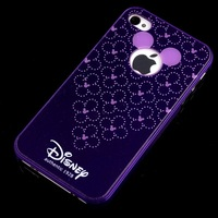 4022 Cute purple Cartoon Mickey Mouse Hard Case Cover Skin For IPHONE 4 4S new