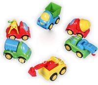 Best selling!! Mini project car plastic toy car truck Free shipping 6 pcs/lot