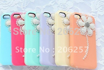 for iphone 4 case Rhinestone Pearl Daisy beautiful girls case for iphone4 4s