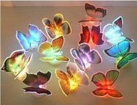 Christmas gift Dream butterfly lamp colorful fiber optic butterfly lamp luminous light home wall lamp