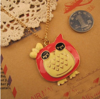 N001T  2013 Vintage Jewelry owl necklaces for women wholesale bohemian statement choker necklace TJ-3.49 60D