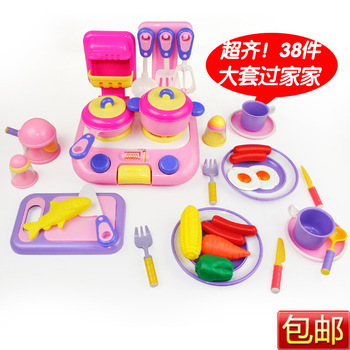 2013 New year Christmas Gift Baby Toy 38 PCS Dinnerware Set Kitchen Toy Educational Toys KCZG0038