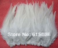 Free Shipping! Hot sale promotion 100pcs/lot white short 9-15cm ROOSTER SADDLE CAPE CRAFT FEATHER for sinamay hat/party mask