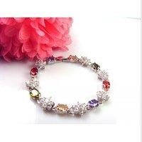 fashion new zircon bracelets Cubic Zirconia Gold Plated18kt trendy women bracelets Link Chain