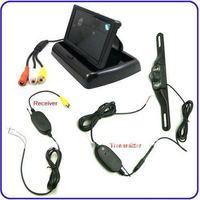 Free shipping Parking Sensor +4.3' Rearview Mirror + Car Reversing Kit Rearview Camera Kit