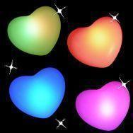 5pcs/lot Free shipping Colorful LED Heart Christmas/Valentine/Wedding Decoration Night Light Creating Romantic atmosphere(China (Mainland))