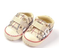 Free shipping wholesale 2012  fashion chic brand  plaid eyelet deco. sneaker shoes style  BB shoes/prewalkers