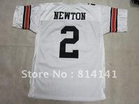 Wholesale-Free Shipping College Jersey Auburn  #2 Cameron Newton White