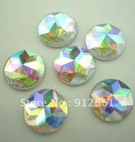 Free shipping(45pcsper lot)round AB Rivoli Flat back,10mm nail bead, shiny Iphone loose element,DIY flat stone