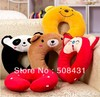 free shipping Soft cartoon plush u shape Neck Pillow nap muffler health care pillow for travelling sleeping(China (Mainland))