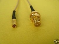 RP-SMA Female to MMCX Female Pigtail Jumper Cable BN8A