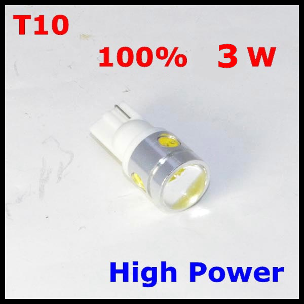 t10 3w len high power led auto light T10 3w 360degrees emmiting 3W T10 with lens(China (Mainland))