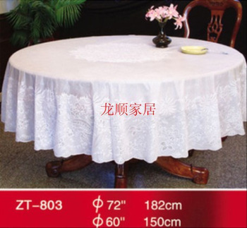 Pvc plastic anti-hot jacquard round table cloth round tablecloth oil waterproof diameter 180cm