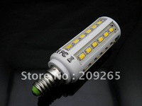 5pcs/lot E14 5630 8W 800lumen 220V AC cool white warm white corn led bulb 42 leds chip #927