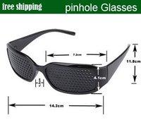 Black Vision Care Pin hole Eyeglasses pinhole Glasses Eye Exercise Eyesight Improve plastic Unisex