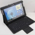 Hot Sale High Quality Bluetooth Keyboard Leather Case For Samsung Galaxy Note 10.1 N8000 N8010 Free Shipping
