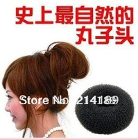 Free Shipping For Ladies' Headwear Tool 2 PCS Big Black Soft Hair Bun Ring Donut Forner Styling Style Design Salon Tool