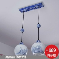 EMS FREE SHIPPING Elegant brief classic blue and white lighting bedroom pendant light yld4007