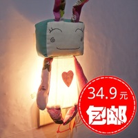 FREE SHIPPING Fashion rustic cloth nightlight wall lamp child real ofhead lighting lamps electric light