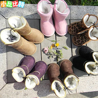 Free shipping  Lj child snow boots cotton boots cotton-padded shoes 3 double wholesales