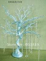 "WEDDING DECORATION CRYSTAL TREE 29"" Tall  Artificial Statue Tree with 2.4 meter crystal Garland Chain"