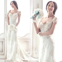 Wedding Dresses 2013 Lace Royal Princess Mermaid Train Wedding Dress  2012 New Arrival 6909