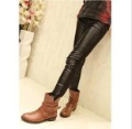 2012 Spring And Autumn Faux Leather Patchwork Leather Fashion Leggings For Wome Soft Comfortable Lady Legging Free Size