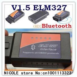 Professional Diagnostic Tool OBD2 OBD-II ELM327 V1.5 Bluetooth Car Diagnostic Interface Scanner dropshipping
